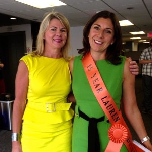 Wearing my 15 year sash with Denise (President of Babcock & Jenkins)